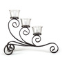 HomeTown Multicolour Metal & Glass Venetian Candle Holder