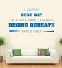 Hoopoe Decor Blue Vinyl An Obstacle Is Often A Stepping Stone Wall Decal