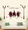 Hoopoe Decor Brown Vinyl Be Kind to Everyone Wall Decal