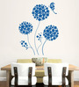 Hoopoe Decor Vinyl Round Flowers with Butterfly Wall Sticker