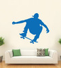 Hoopoe Decor Vinyl Boy Skating on Road Wall Sticker