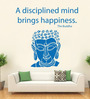 Hoopoe Decor Vinyl Lord Buddha with Quote Wall Decal