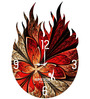 Hoopoe Decor Burning Classical Theme Acrylic 11.5 X 11.5 Inch Wall Clock