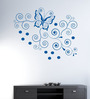 Hoopoe Decor Vinyl Butterfly & Flower Wall Sticker