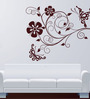 Hoopoe Decor Brown Vinyl Butterfly on The Branch Wall Sticker