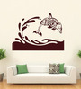 Hoopoe Decor Vinyl Fish Jumping from Water Wall Sticker