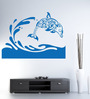 Hoopoe Decor Vinyl Fish Jumping from Water Wall Decal