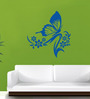 Hoopoe Decor Vinyl Flowers & Butterfly Wall Decal