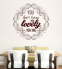 Hoopoe Decor Brown Vinyl How Lovely You Are Wall Decal