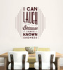 Hoopoe Decor Brown Vinyl I Can Laugh Wall Decal