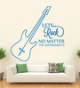 Hoopoe Decor Vinyl Lets Rock No Matter Instruments Wall Decal