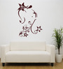 Hoopoe Decor Vinyl Lord Ganesha with Flowers Wall Sticker