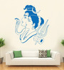 Hoopoe Decor Vinyl Lord Shiva with Parvati Wall Sticker