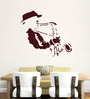 Hoopoe Decor Brown Vinyl Man Playing Saxophone Wall Sticker