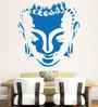 Hoopoe Decor Vinyl Meditating Buddha Smiling Face Wall Decal