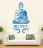 Hoopoe Decor Vinyl Meditating Buddha Pose Wall Decal