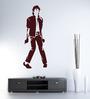 Hoopoe Decor Brown Vinyl Michael Jackson in Dance Pose Wall Decal