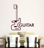 Hoopoe Decor Brown Vinyl Nice Guitar Wall Sticker