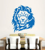 Hoopoe Decor Vinyl Roaring Lion Wall Decal