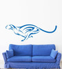 Hoopoe Decor Vinyl Running Leopard Wall Decal