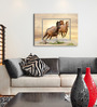Hashtag Decor Horses in Sunset Engineered Wood 27 x 20 Inch Framed Art Panel