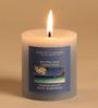 Hosley Caribbean Breeze Blue Pillar Candle