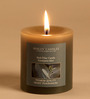 Hosley Eucalyptus Mint Grey Pillar Candle