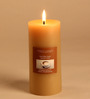 Hosley Hazelnut Creme Highly Scented Brown Pillar Candle
