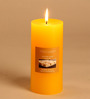 Hosley Lemon Bar Highly Scented Yellow Pillar Candle