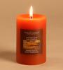 Hosley Rustic Sandalwood Brown Pillar Candle