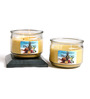 Hosley Tropical Mist Scented Double Wick Yellow Jar Candle