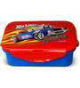 Hot Wheels Medium Lunch Box 600 Ml (BPA Free) by Only Kidz (Set of 2)