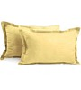 Hothaat Beiges Cotton 17 X 27 Pillow Covers - Set of 2