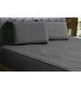 HotHaat Black Cotton Solid Single Fitted Sheet (with Pillow Covers) - Set of 3