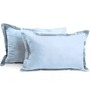Hothaat Blues Cotton 17 X 27 Pillow Covers - Set of 2