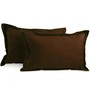 Hothaat Browns Cotton 17 X 27 Pillow Covers - Set of 2