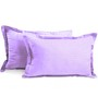 Hothaat Purples Cotton 17 X 27 Pillow Covers - Set of 2