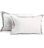 Hothaat Whites Cotton 17 X 27 Pillow Covers - Set of 2