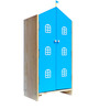 House Kids Small-Size Wardrobe in Blue Colour by KuriousKid