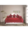 House This Red Cotton Diwan Sets - Set of 6