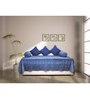 House This Blue Cotton Diwan Set - Set of 6