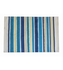 House This Blue Cotton 35 x 24 Inch Striped & Checkered Area Rug