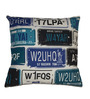 House This Blue Cotton 16 x 16 Inch Cushion Cover