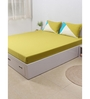 House This Green 100% Cotton Queen Size Bedsheet - Set of 3