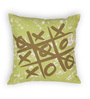 House This Green Cotton 16 x 16 Inch Gaming-Tic Tac Cushion Cover