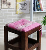 House This Purple Cotton 16 x 16 Inch The Barcode Stripes Chair Pad