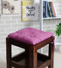 House This Purple Cotton 16 x 16 Inch Valley of Flowers Flora Chair Pad