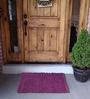 House This Purple Cotton 24 x 18 Inch Chenille Door Mat