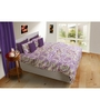 House This Purples Nature & Florals Cotton Queen Size Bed Sheets - Set of 3