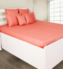 House This Red 100% Cotton Bed sheet